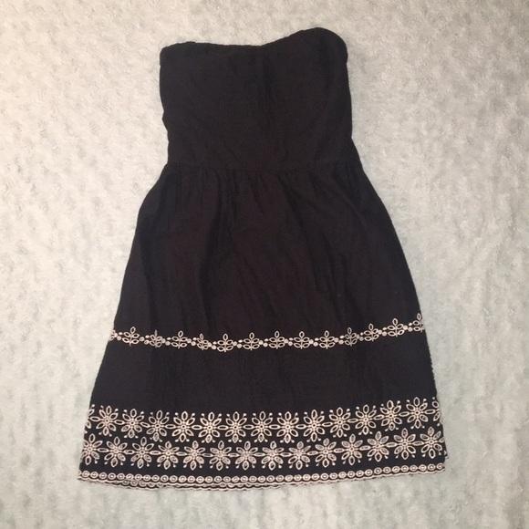 Summer Black Strapless Dress